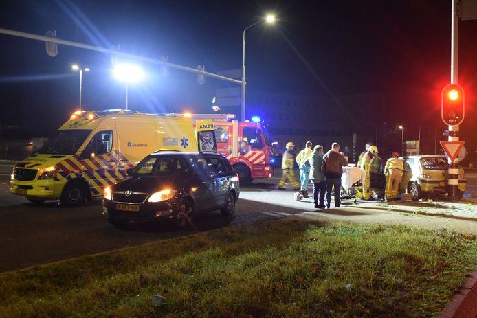 Situatie na het ongeval in Doetinchem op 28 december 2019.