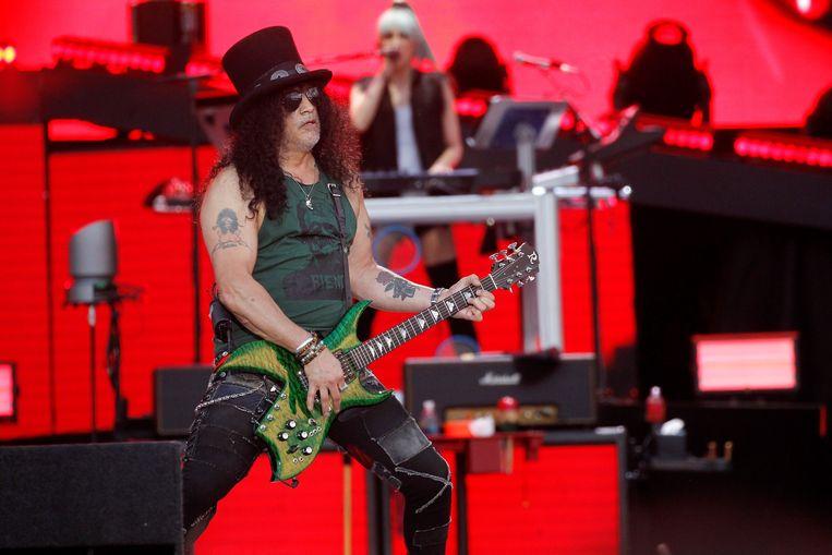 Slash op het Download Festival in Madrid op 29 June 2018.