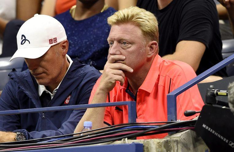 Boris Becker (R) Beeld epa