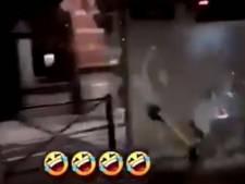 Une trottinette lancée à pleine vitesse pour défoncer un abribus