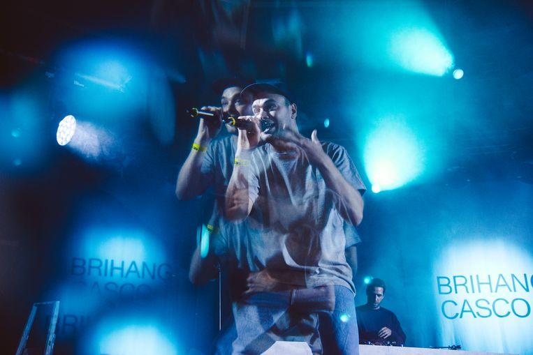 """Brihang in actie op Pukkelpop 2019. """"Nu zit ik vooral in met de mensen met wie ik werk. De muzikanten van de band, de technici, mijn tourmanager..."""" Beeld Francis Vanhee"""