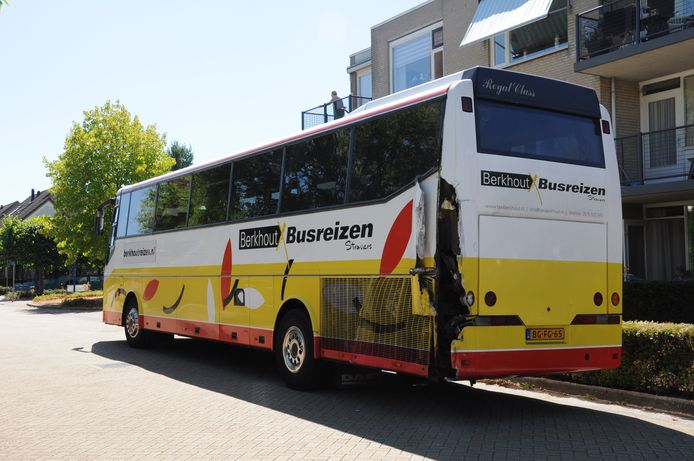 Eén van de twee bussen.