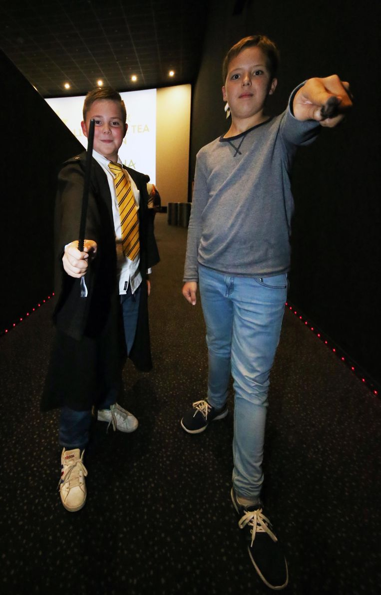 Basiel Bauters en Joost Waege namen hun toverstaf mee.     Foto Henk Deleu