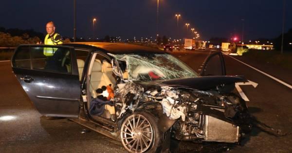 'Stijf van de speed' bij ongeval op A2 bij Bruchem; er hadden doden kunnen vallen.