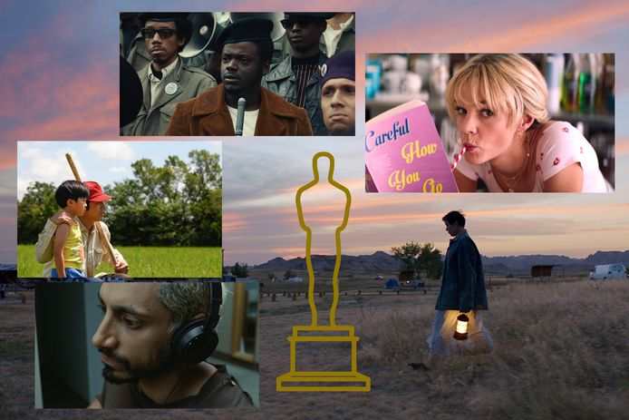 Enkele films die zijn genomineerd voor Oscars: Judas and the Black Messiah, Minari, Promising Young Woman, Nomadland en Sound of Metal.