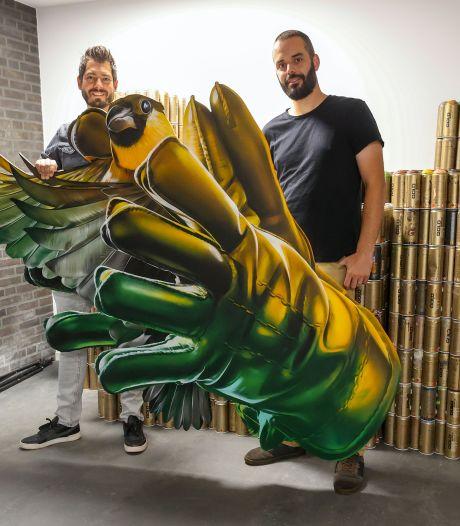 'De Held en De Lul' op een muur in Goes: Studio Giftig brengt liedjes tot leven