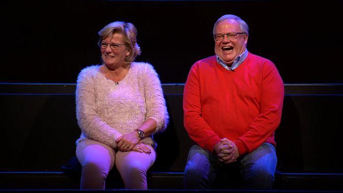 Denise en Robert, voortaan de enige toeschouwers in de studio van 'De slimste mens'.