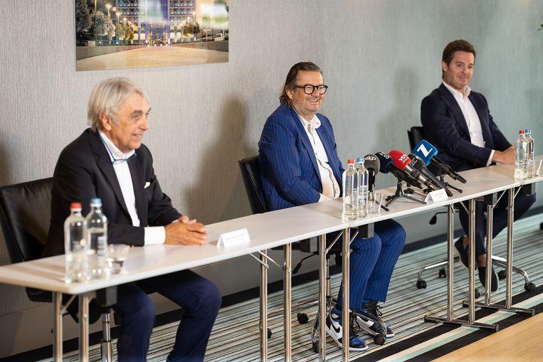 De plannen werden voorgesteld tijdens een persconferentie. Beeld BELGA