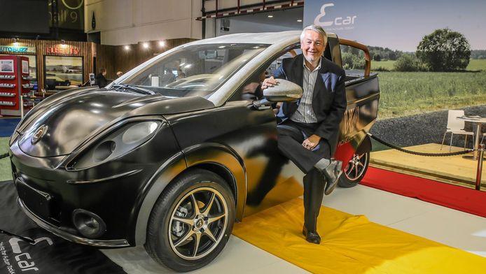 Op het Autosalon kan je onder meer de Ecar 333 bewonderen, een elektrische driewieler van Belgische makelij.