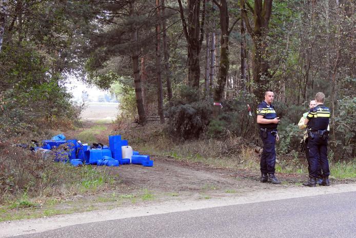 Drugsafval, gedumpt bij Riethoven.