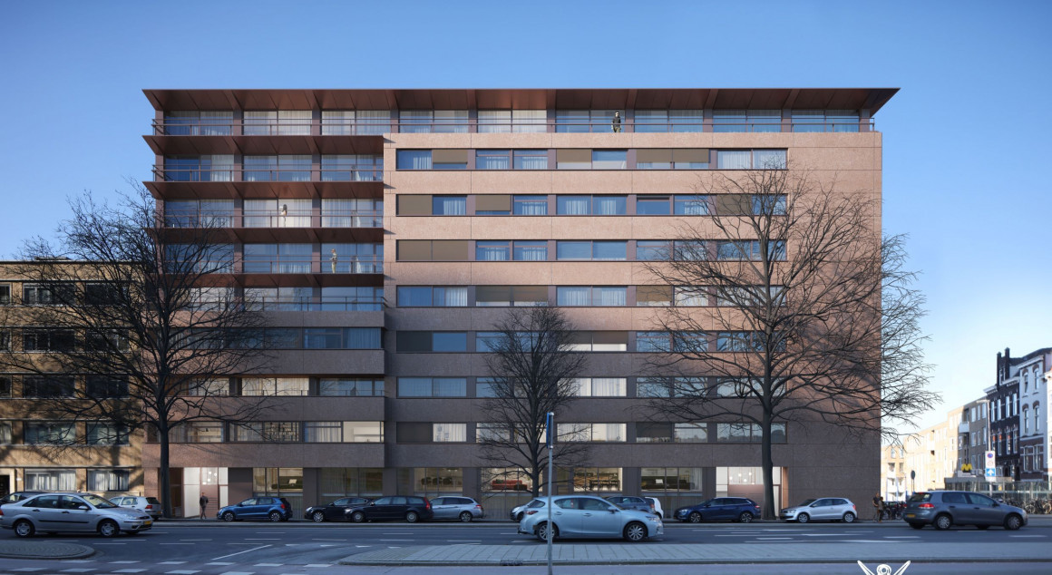 Nieuw Hoboken. Er komen 97 huurwoningen in de vrije sector.