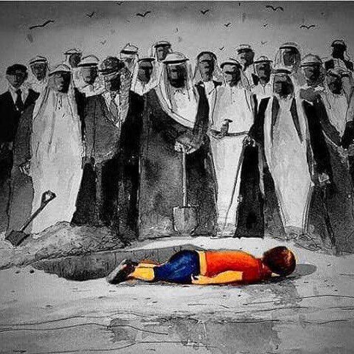 De cartoon die werd gedeeld op de Facebookpagina Muslim Mamas.
