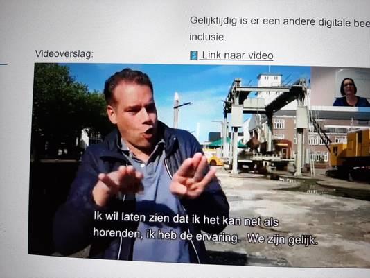 Pascal Kriek uit Veghel vertelde in een filmpje van de gemeente Meierijstad hoe het is om doof te zijn.