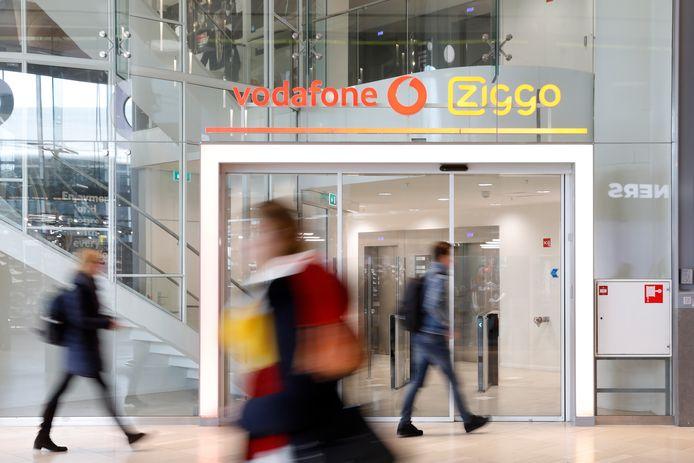 Het vorig jaar geopende hoofdkantoor van het fusiebedrijf VodafoneZiggo in Utrecht.
