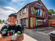 Buurt levert boeken, graffitikunstenaar JanIsDeMan de kast: 'Ik zet Tilburg op zijn kop'