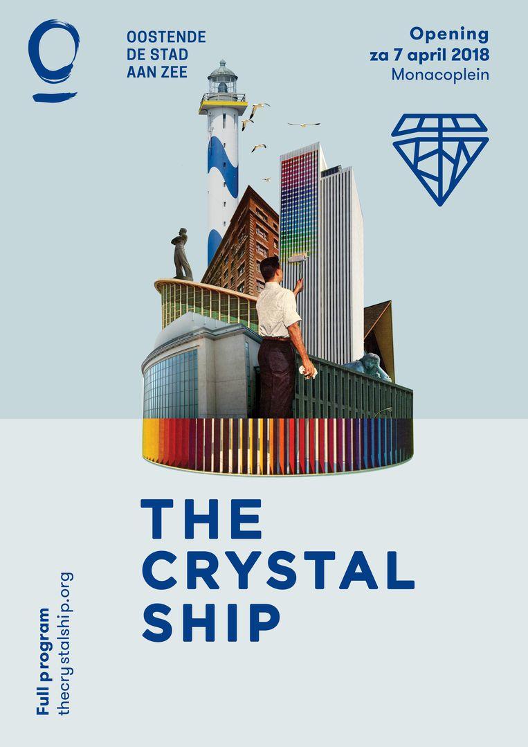 De affiche van The Crystal Ship werd dit jaar gemaakt door Sammy Slabbinck. Beeld Sammy Slabbinck