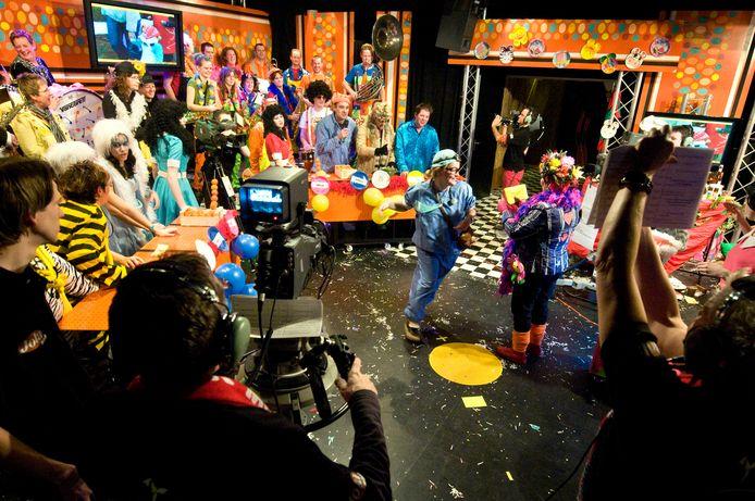 Sfeerimpressie van een uitzending van Baronie TV.