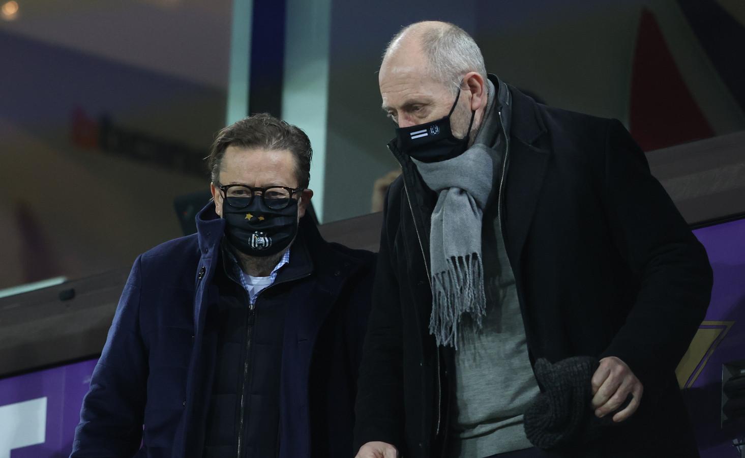 Marc Coucke en Anderlecht-CEO Jos Donvil.