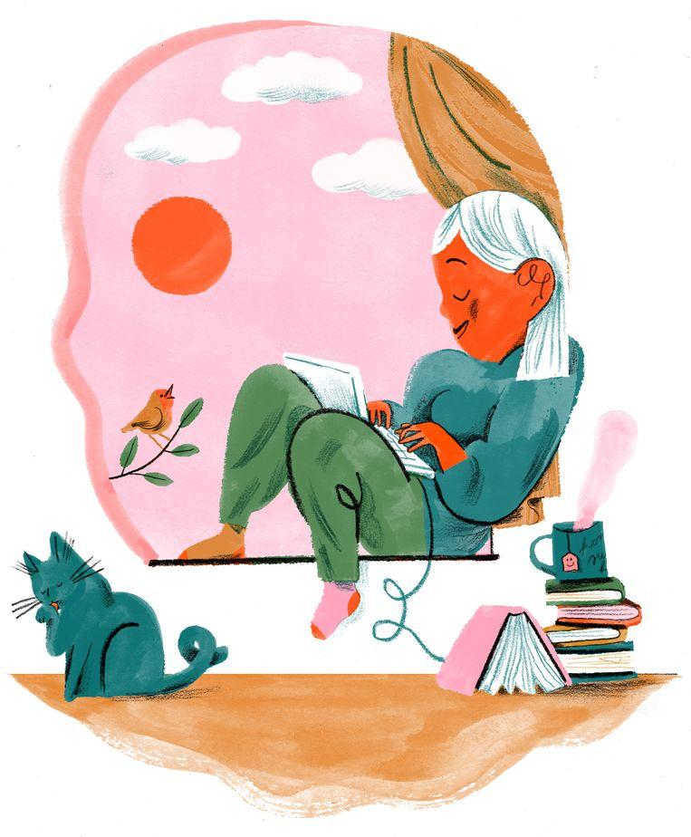 Susan Cain, auteur van bestseller 'Quiet': 'We geloven dat alle creativiteit en productiviteit voortkomt uit groepsdenken, maar succesvolle mensen hebben vaak ook een duidelijke introverte kant.'  Beeld Charlotte Dumortier