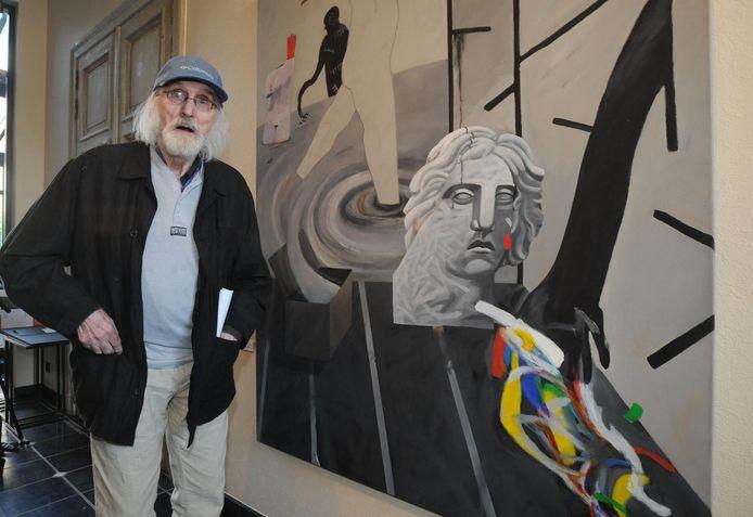 Jan De WInter bij een van zijn werken.