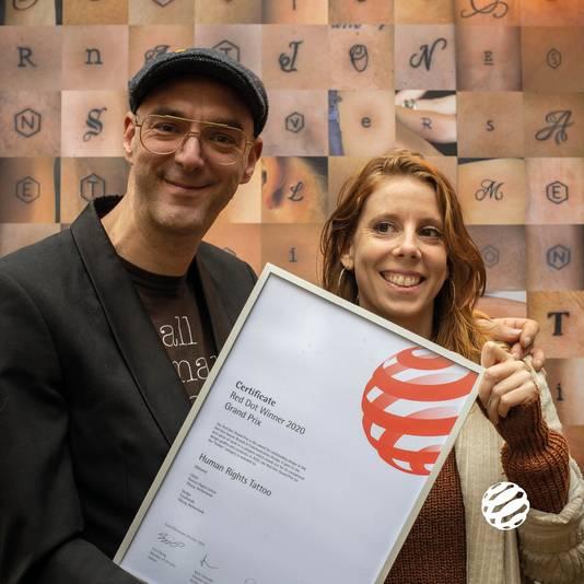 Human Right Tattoo-voorman Sander van Bussel en Niki van Rooy.