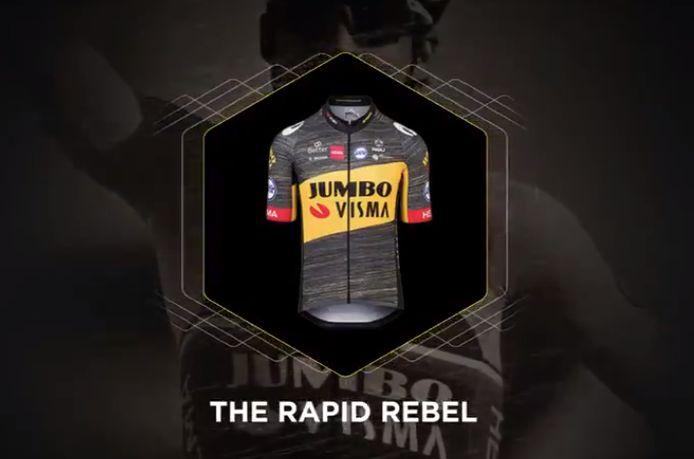 The Rapid Rebel, het shirt van Jumbo-Visma in de Tour de France.