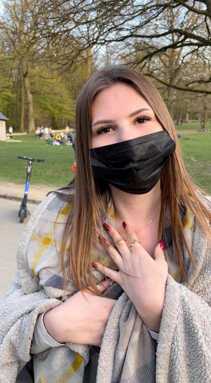 Julie, une étudiante liégeoise, a aussi rallié la capitale ce jeudi pour se rendre au bois de la Cambre. D'abord par curiosité. Mais également en signe de protestation.