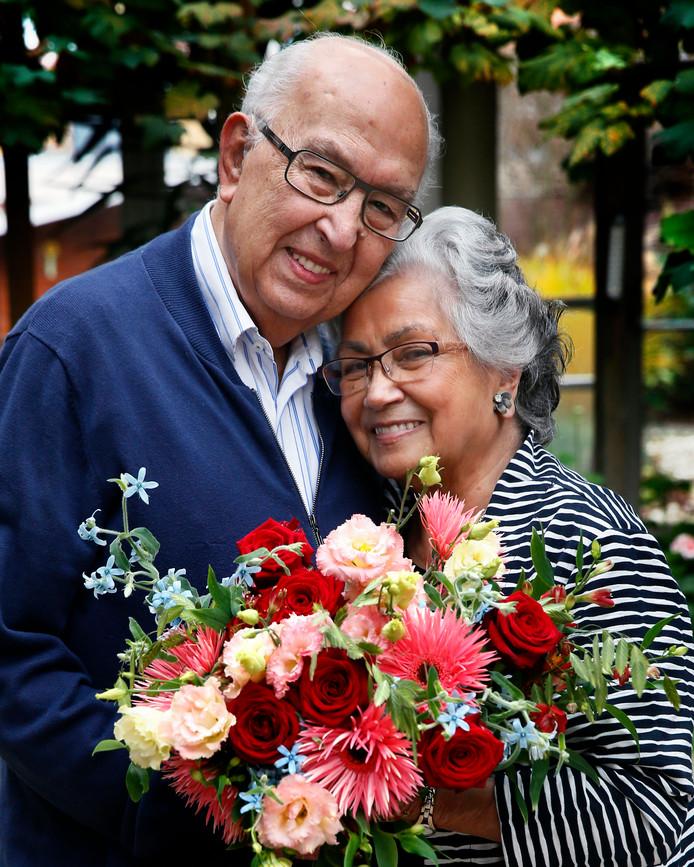 2017: Jaap en Jeanne Göbel tijdens hun 70-jarige huwelijk.