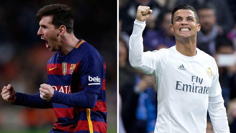 Lionel Messi en Cristiano Ronaldo. Beeld GETTY