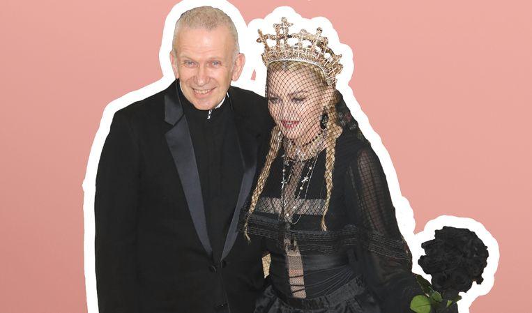 Jean Paul Gaultier en Madonna, hier op het MET Gala in 2018.