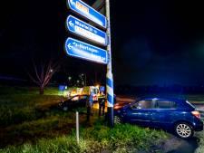 Botsing bij oprit van snelweg in Raamsdonksveer, één bestuurder heeft drugs op