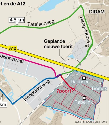 Bypass langs snelweg: snelle route van Grietse Poort naar 7Poort als alternatief