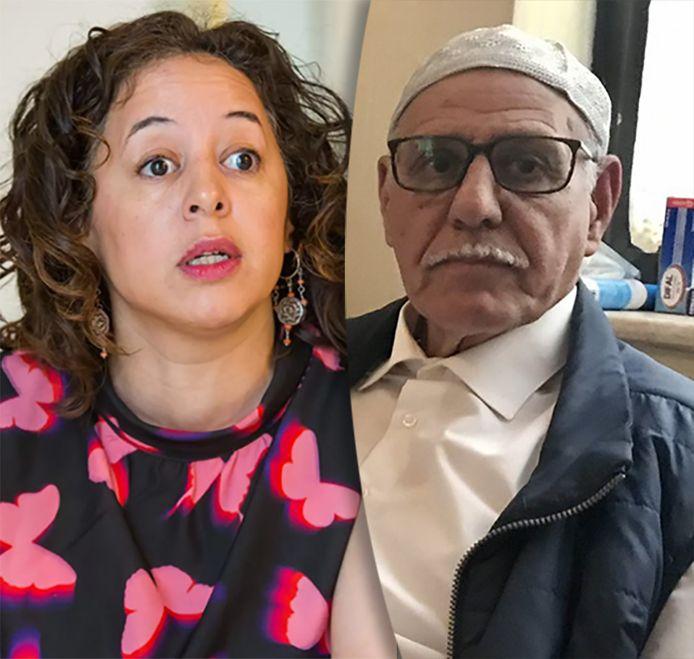 Yamila Idrissi en haar vader Idrissi Haddou