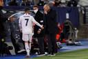Eden Hazard en Zinedine Zidane eerder op het seizoen.