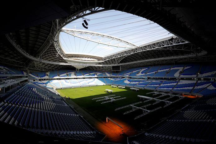 Het Al Janoub Stadion aan de binnenkant.