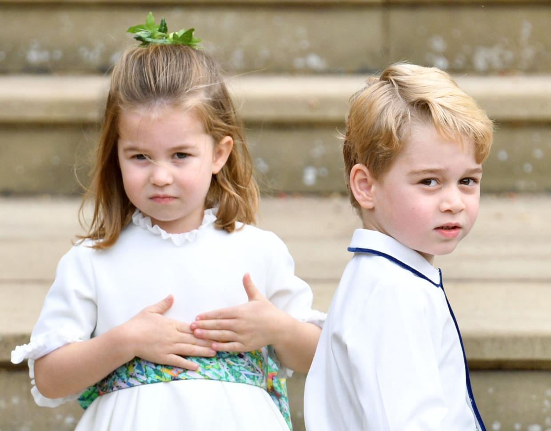 Prinses Charlotte met haar broer prins George. Beeld Getty Images