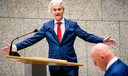 Geert Wilders (PVV) en minister Ferdinand Grapperhaus (J&V) tijdens het wekelijkse vragenuur in de Tweede Kamer.