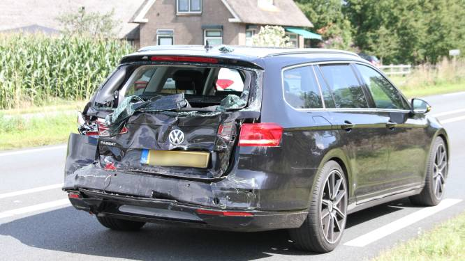 Derde ongeluk in paar dagen tijd op N35 bij Haarle: vrachtwagen botst achterop auto