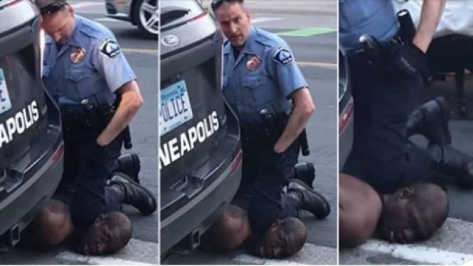 """""""Ik kan niet ademen"""": zwarte man sterft nadat hij minutenlang knie van agent in de nek geplant krijgt"""