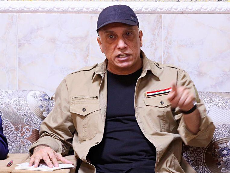 De Iraakse eerste minister Moestafa al-Kazimi kondigde de dood van de IS-leider aan. Beeld REUTERS
