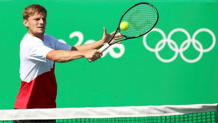 Tennisser David Goffin debuteert vandaag op de Olympische Spelen. Beeld Photo News