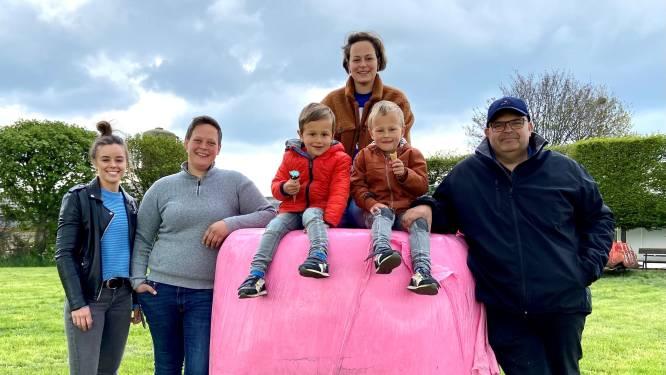 """Waarom grasbalen in Loenhout plots gewikkeld zijn in roze plastic: """"Al drie vrouwen van collega's gestorven aan die ziekte"""""""