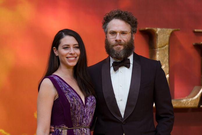Seth Rogen met z'n vrouw Lauren Miller.