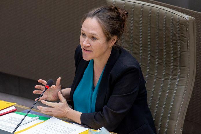 Hannelore Goeman, fractieleider van Vooruit.