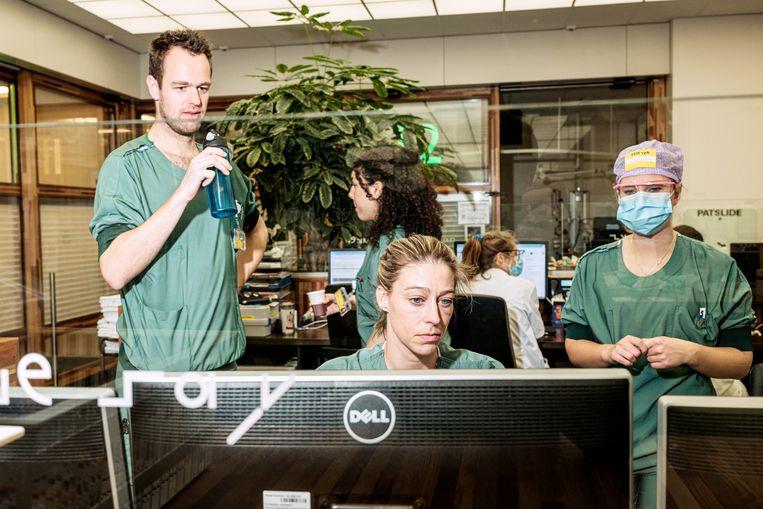 Zorgmedewerkers van het Amsterdam UMC. Beeld Jakob van Vliet