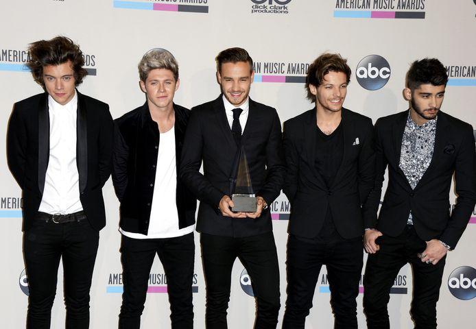 Van Links naar rechts: Harry Styles, Niall Horan, Liam Payne, Louis Tomlinson en Zayn Malik.