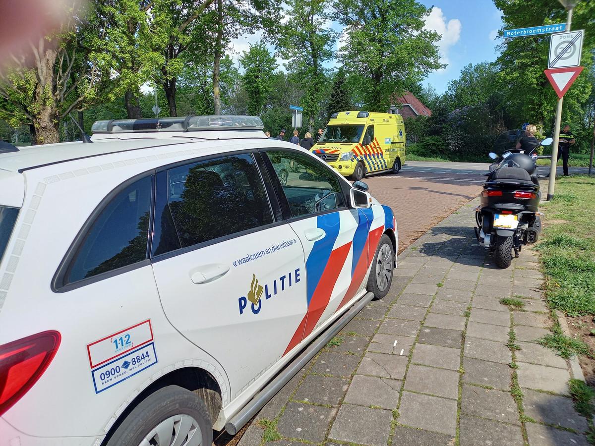 De hulpinstanties bij het ongeluk in Groesbeek.