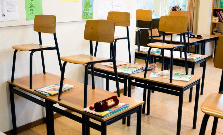 In tientallen Brabantse klassen wordt maandag geen les gegeven. Beeld ANP