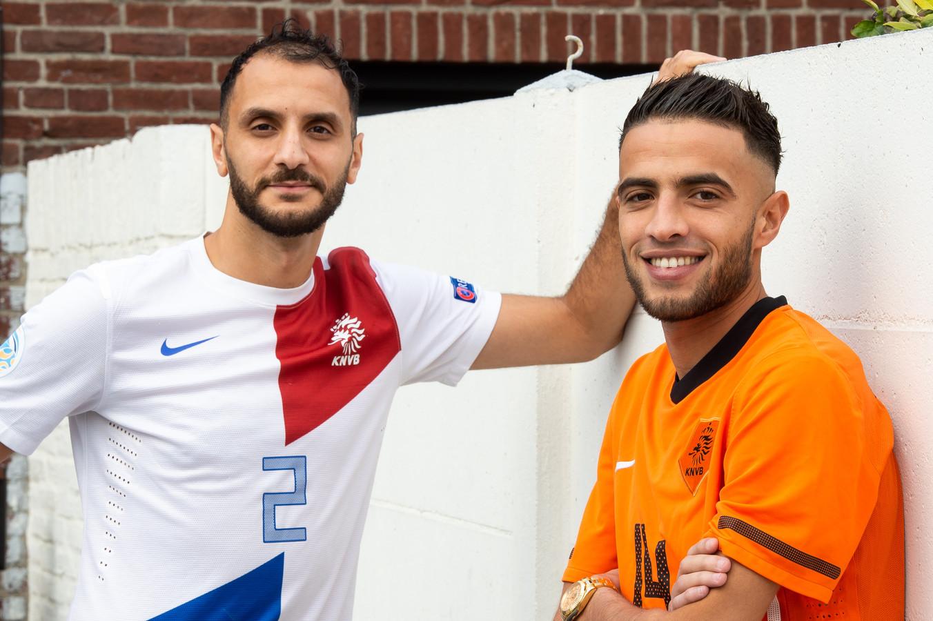 Mouhcine Zerouali (rechts) en Oualid Saadouni.