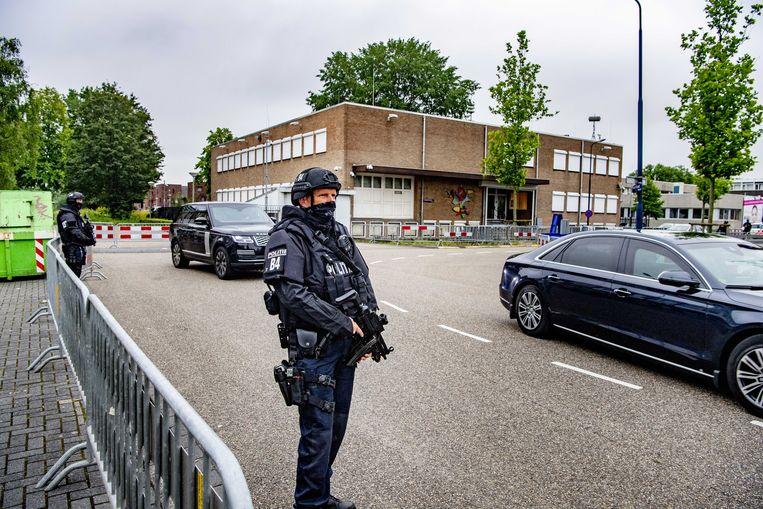 Het Marengoproces vindt plaats in De Bunker , de extra beveiligde rechtbank in Amsterdam-Nieuw-West. Beeld ANP/Robin Utrecht